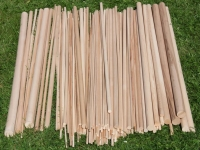 Круглая буковая рейка, круглый деревянный профиль, круглая палочка из дерева